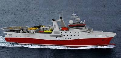 Graphical rendering of the new seismic vessel (courtesy Skipsteknisk)