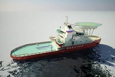 Icebreaking rescue vessel (Photo: Arctech Helsinki Shipyard)