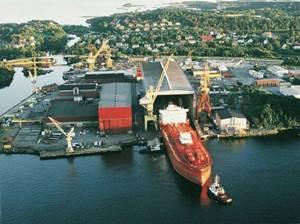 The Aker Yard in Florø, Norway.