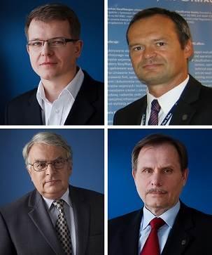 Clockwise from top left: Dariusz Rudziński, Grzegorz Petkke, Jan Jankowski and Jerzy Wyrzykowski