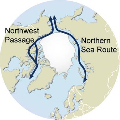 Arctic Sea Routes: mage courtesy of UNEP