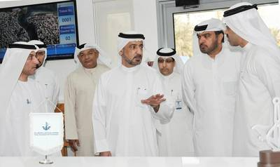 H.E. Ahmed Butti, Executive Chairman of DMCA, during his visit to the new Customer Service Office.