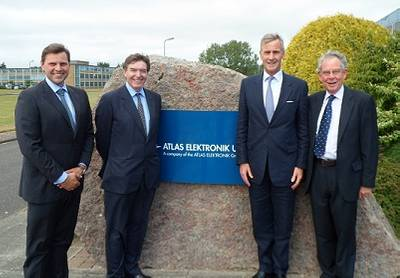 Mr. Dunne and Mr. Drax meet the Company Chairman, Rear Admiral Nigel Guild and Managing Director, Dr Antoni Mazur.