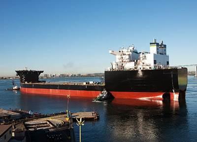 SAN DIEGO (Nov. 12, 2012) Mobile landing platform ship USNS Montford Point (MLP 1) is floated out of General Dynamics NASSCO shipyard. (U.S. Navy photo courtesy of General Dynamics NASSCO/Released)