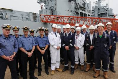 The RFA Argus Team: Photo credit A&P Shipyards