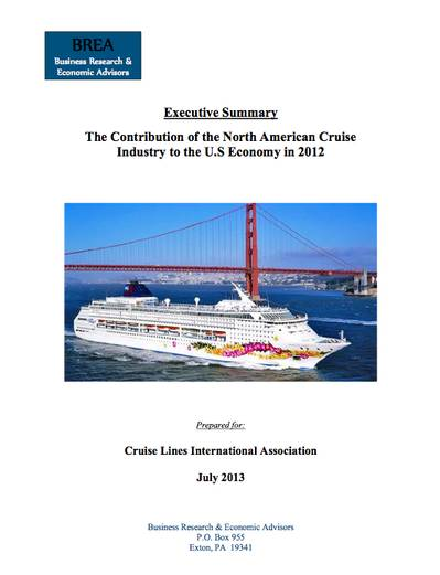 Cruise Industry Report: Image courtesy of CLIA