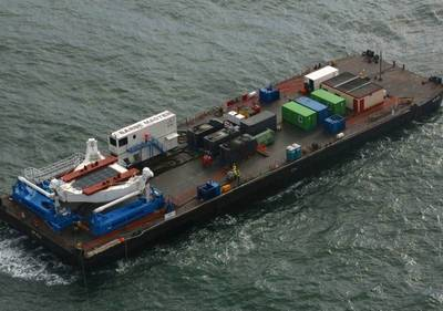 Aerial view of Barge Master platform: Photo courtesy of the manufacturers