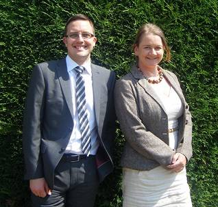 GL Group's David Robertson and Elaine Greig