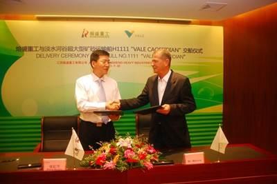 Vale VLOC delivery: Photo credti China Rongsheng