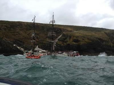 Rescue Scene: Photo courtesy of RNLI