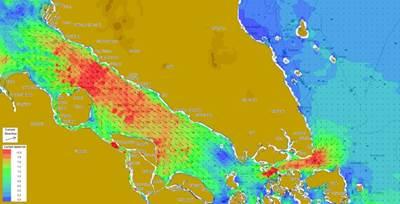Singapore-Malacca Straits: Image credit Tidetech