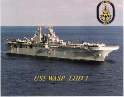 USS Wasp: Photo credit USN