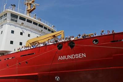 CCGS Amundsen: Photo courtesy of Canadian Coast Guard