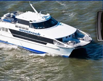 Seastreak Ferry: Photo courtesy of Seastreak