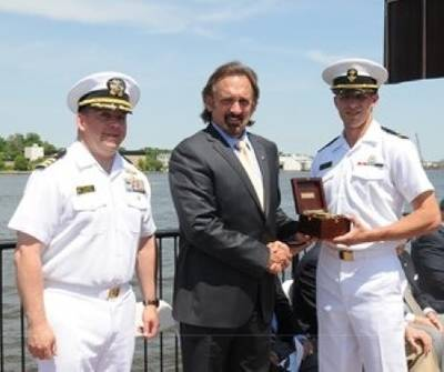 Presentation of Navigation Award: Photo courtesy of Northrop Grumman Corp.