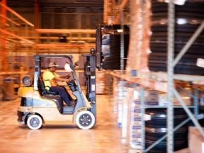 Crowley warehouse interior: Photo courtesy of Crowley