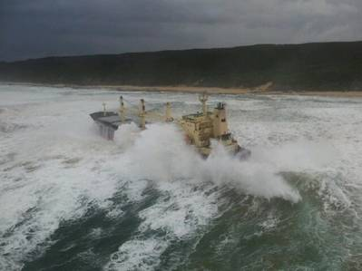 Kiani Satu aground: Photo courtesy of NSRI
