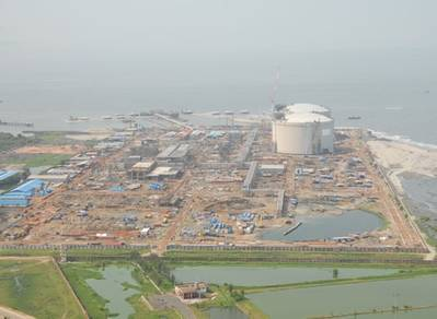 New LNG Terminal: Photo courtesy of Petronet
