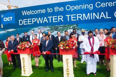 Dignitories at CICT opening ceremony: Photo credit China Merchants