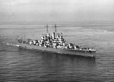 USS Cleveland (CL-55), U.S. Naval Historical Center Photograph