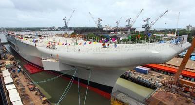 INS Vikrant: Photo credit Cochin Shipyard