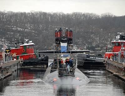 USS Pittsburgh un-docking: Photo credit USN