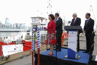 Ferry naming: Photo courtesy of Cammell Laird