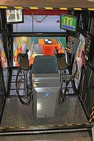 Crane simulator: Photo courtesy of Kongsberg GlobalSim