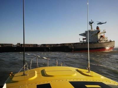 Bulk Carrier 'Smart' aground: Photo credit NSRI