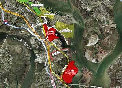 Shipyard Creek area: Image courtesy of JLL