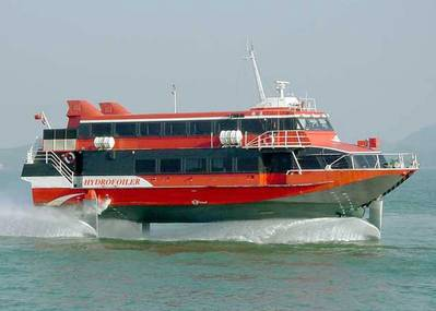 Hydrofoil Ferry: Photo courtesy of IHS