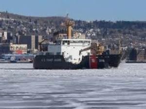 Cutter Alder off Duluth: Photo credit USCG