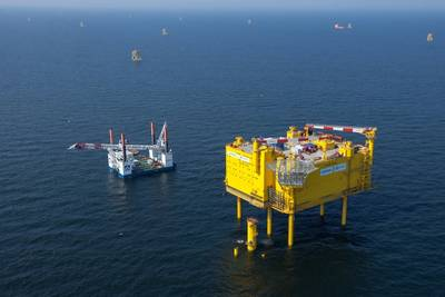HelWin1 offshore platform: Photo courtesy of Siemens