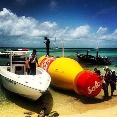 Bottle on the beach: Photo courtesy of Solo/Arjuna Maciel Camargo