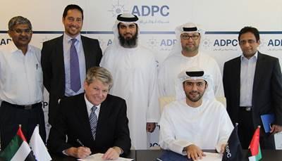 Delma Port signing ceremony: Photo credit ADPC