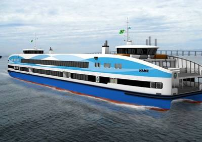 CoCo Yachts Ferry: Rendering courtesy of Veth Propulsion