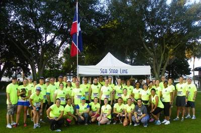 Sea Star's Runners and Volunteers at the Wounded Warrior 8K Race in Jacksonville, Florida