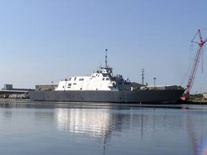 Freedom (LCS 1), starboard view.  Photo Credit:  Lockheed Martin