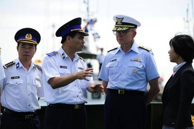 Commandant Papp in Vietnam Discussion: Photo credit USCG