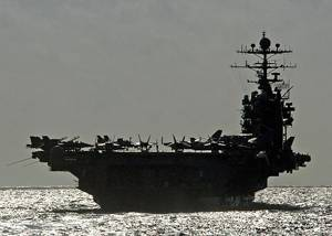 The Nimitz-class aircraft carrier USS George Washington (CVN 73)  U.S. Navy photo by Photographer's Mate Airman Michael D. Blackwell II