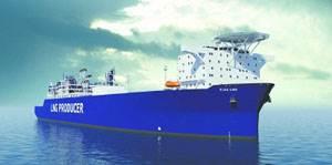 The FLEX LNG ship will be powered by four Wärtsilä 50DF engines, manufactured by Wärtsilä-Hyundai Engine Company.