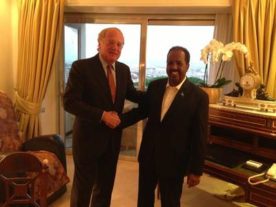 Eni's CEO, Paolo Scaroni and The President of the Federal Republic of Somalia, Sheikh Hassan Mohamud.