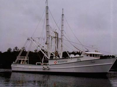 Fishing vessel Poncho at its moorings on Vermillion Bay in Morgan City. (Photo provided by Marine Ventures Inc.)