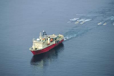 Marlink supplied a 12 Mbit/s dedicated return link for the Atlantic Explorer.