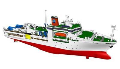 Conceptual drawing of wide-area seabed research vessel