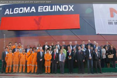 Algoma Equinox Launching: Photo courtesy of Algoma Central Corp.