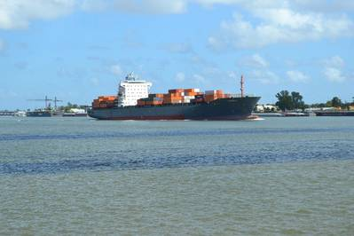 Hapag-Lloyd's 810-foot container ship Summer E arrives at the Port of New Orleans today at 11 a.m. CST. Terminal Operator Ports America will handle 300 container moves on the ship Friday afternoon at the Napoleon Avenue Container Terminal. The Summer E is one of nine ships at Port docks this weekend.
