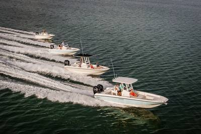 Dauntless line: Photo credit Boston Whaler