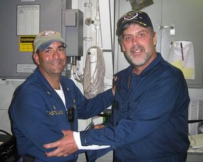 Capt. Phillips & Cmdr. Frank Castellano: Photo credit USN