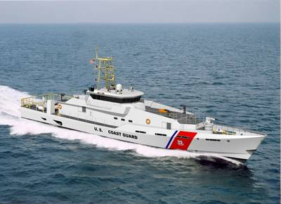 """Artist's concept drawing of the Bollinger built Fast Response Cutter """"Sentinel"""" Class for the United States Coast Guard."""